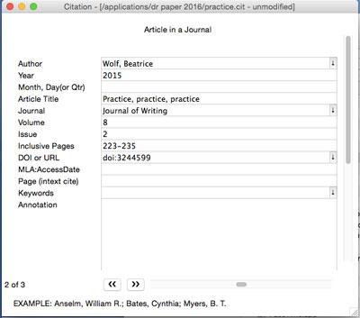 mla format for mac
